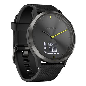 Garmin Vivomove Black Silicone Strap Smartwatch - Product number 3679489