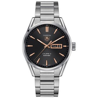 TAG Heuer Carrera 5 Men's Stainless Steel Bracelet Watch - Product number 3692973