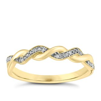 9ct Gold 0.10ct Diamond Ring - Product number 3703223