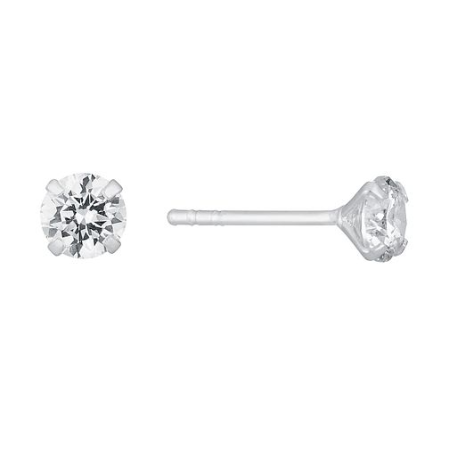 Sterling Silver & Round Cubic Zirconia 5mm Stud Earrings - Product number 3716511