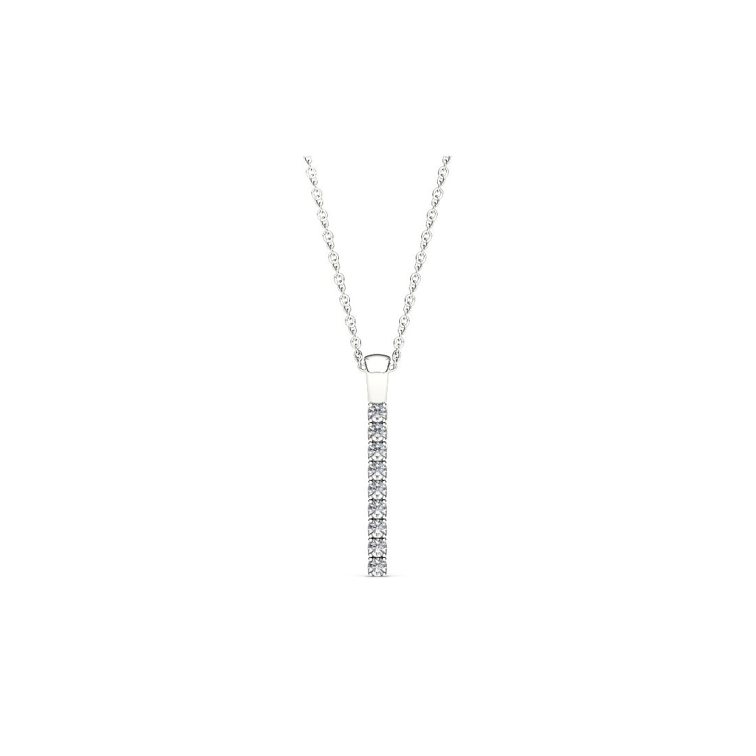 Line Of Love 9ct White Gold 0.25ct Diamond Flexi Pendant - Product number 3717925