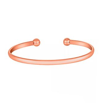 9ct Rose Gold Torque Bangle - Product number 3728137