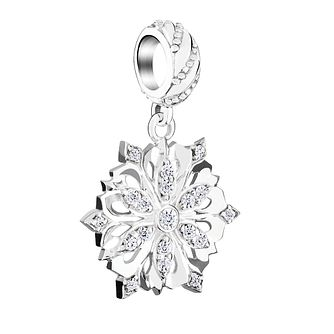 Chamilia Sterling Silver Snowflake Swarovski Zirconia Bead - Product number 3731839