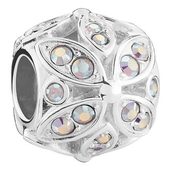 Chamilia Floral sterling silver & Swarovski crystal charm - Product number 3732525