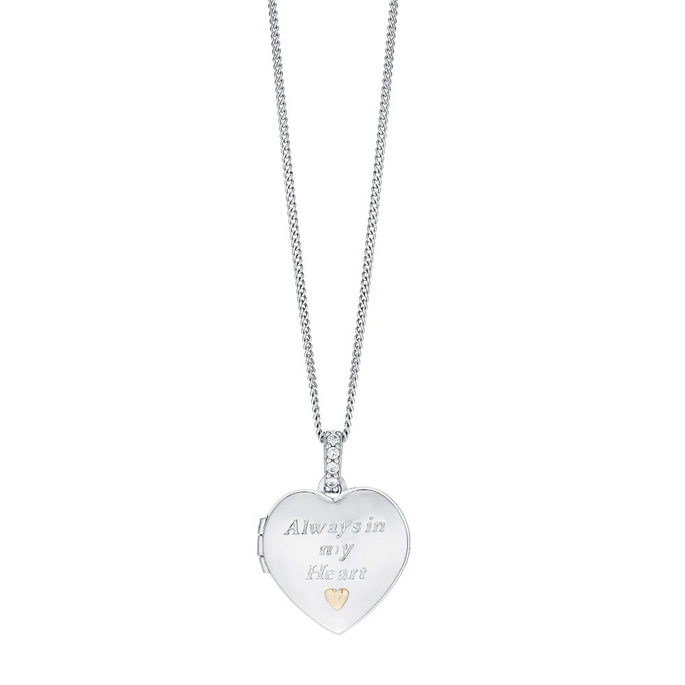 Sterling Silver & 9ct Gold Heart Locket With 18