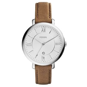Fossil Ladies' Steel & Brown Leather Watch - Product number 3735621