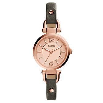 Fossil Ladies' Grey Leather Strap Watch - Product number 3736849