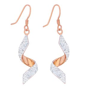 Evoke Rose Gold-Plated Crystal Twist Drop Earrings - Product number 3738183