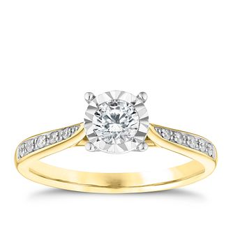 9ct Yellow Gold 0.33ct Diamond Solitaire Ring - Product number 3745961
