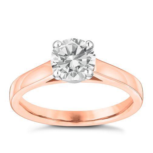 18ct Rose Gold 1ct Claw Set Solitaire Diamond - Product number 3746186