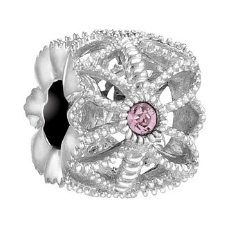 Chamilia Sterling Silver Rose Swarovski Sea Flower Charm - Product number 3757145