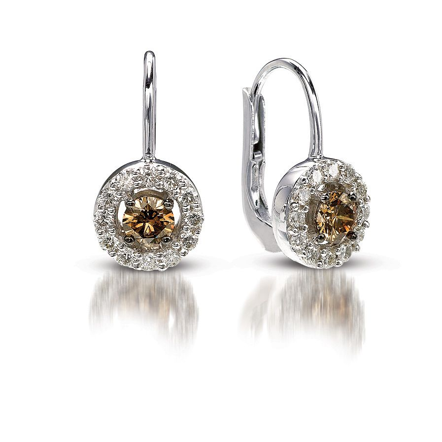 Le Vian 14ct Vanilla Gold And Chocolate Diamond Earrings - Product number 3757757