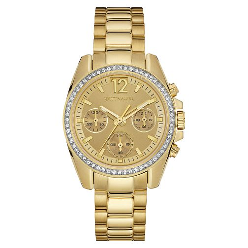 Wittnauer Lucy ladies' gold-plated stone set watch - Product number 3760227