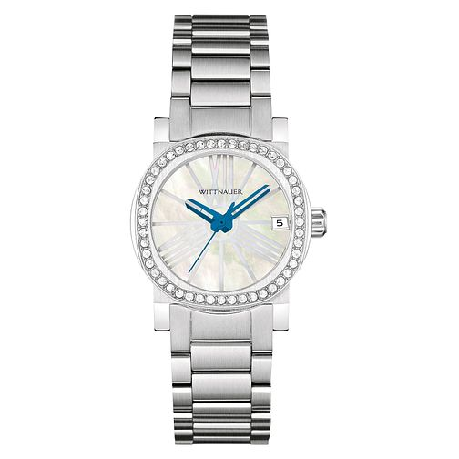 Wittnauer Adele ladies' stainless steel stone set watch - Product number 3760316