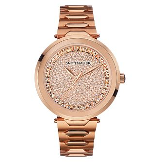 Wittnauer Taylor ladies' rose gold-plated stone set watch - Product number 3760359
