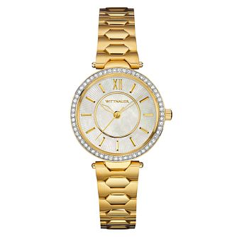 Wittnauer Taylor ladies' gold-plated stone set watch - Product number 3760391