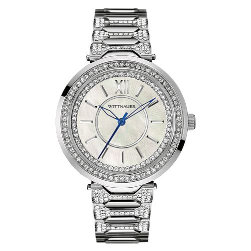 Wittnauer Taylor ladies' stainless steel stone set watch - Product number 3760405