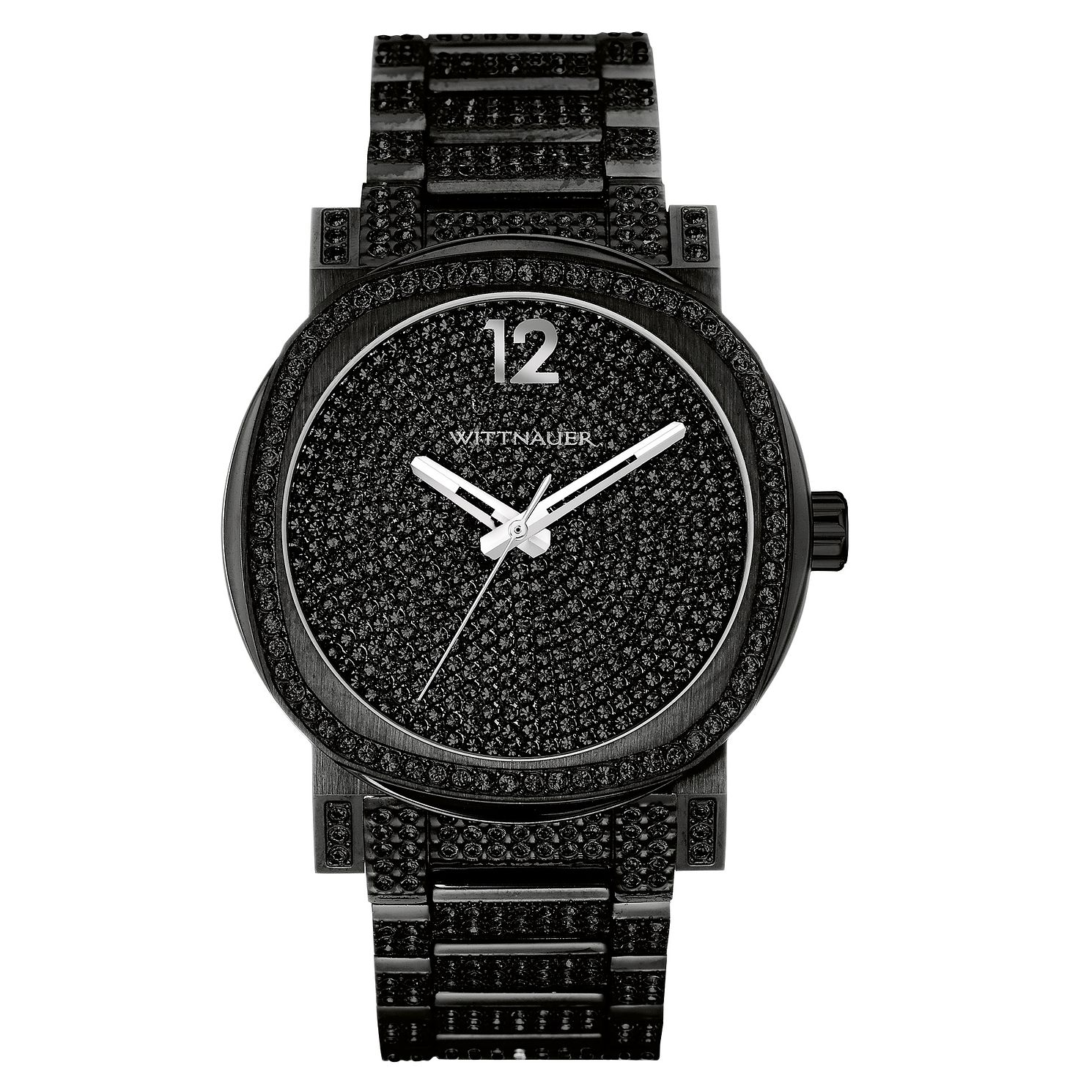 Wittnauer Aiden Men's Black Stone Set Bracelet Watch - Product number 3760561