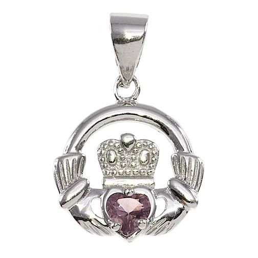 Cailin Silver & Cubic Zirconia Claddagh Pendant - Product number 3762548