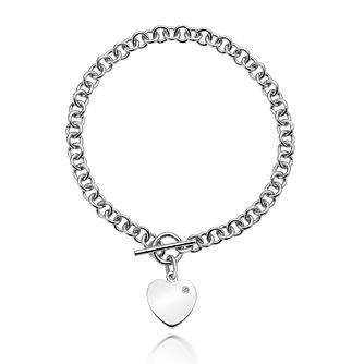 Hot Diamonds Sterling Silver Diamond Heart Charm Bracelet - Product number 3762858