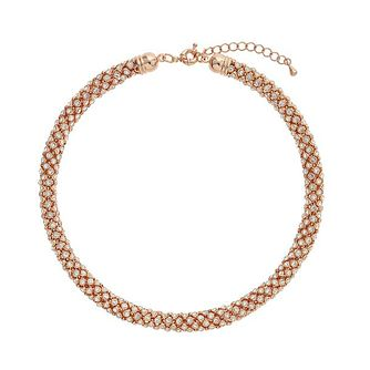 Mikey Rose Gold Tone Scatter Crystal Popcorn Necklace - Product number 3763412