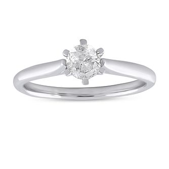 9ct White Gold 2/5ct Diamond Solitaire Ring - Product number 3773930