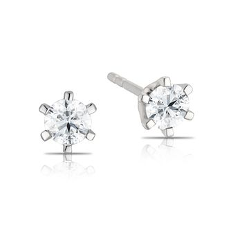 9ct White Gold 1/2ct Diamond Stud Earrings - Product number 3774376