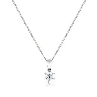 9ct White Gold 0.30ct Diamond Pendant - Product number 3774708