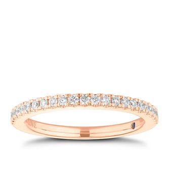 Vera Wang 18ct Rose Gold 0.23ct Diamond Band - Product number 3775186