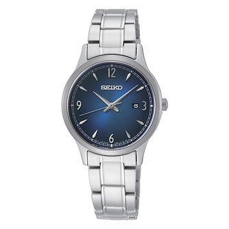 Seiko Ladies' Blue Dial Stainless Steel Bracelet Watch - Product number 3776867