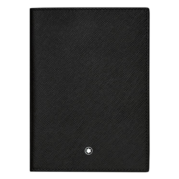 Montblanc Passport Holder Leather Black