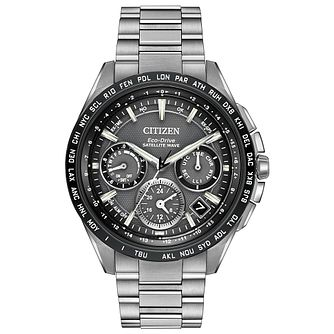 Citizen Eco-Drive Satellite Wave Men's Bracelet Watch - Product number 3777685