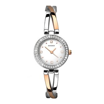 Sekonda Crystal Ladies' Two Tone Bracelet Watch - Product number 3777871