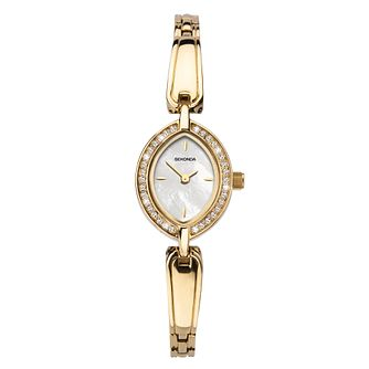 Sekonda Crystal Bezel Ladies' Gold Tone Bracelet Watch - Product number 3777960