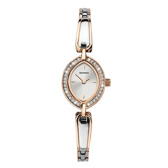 Sekonda Crystal Bezel Ladies' Two Tone Bracelet Watch - Product number 3777979