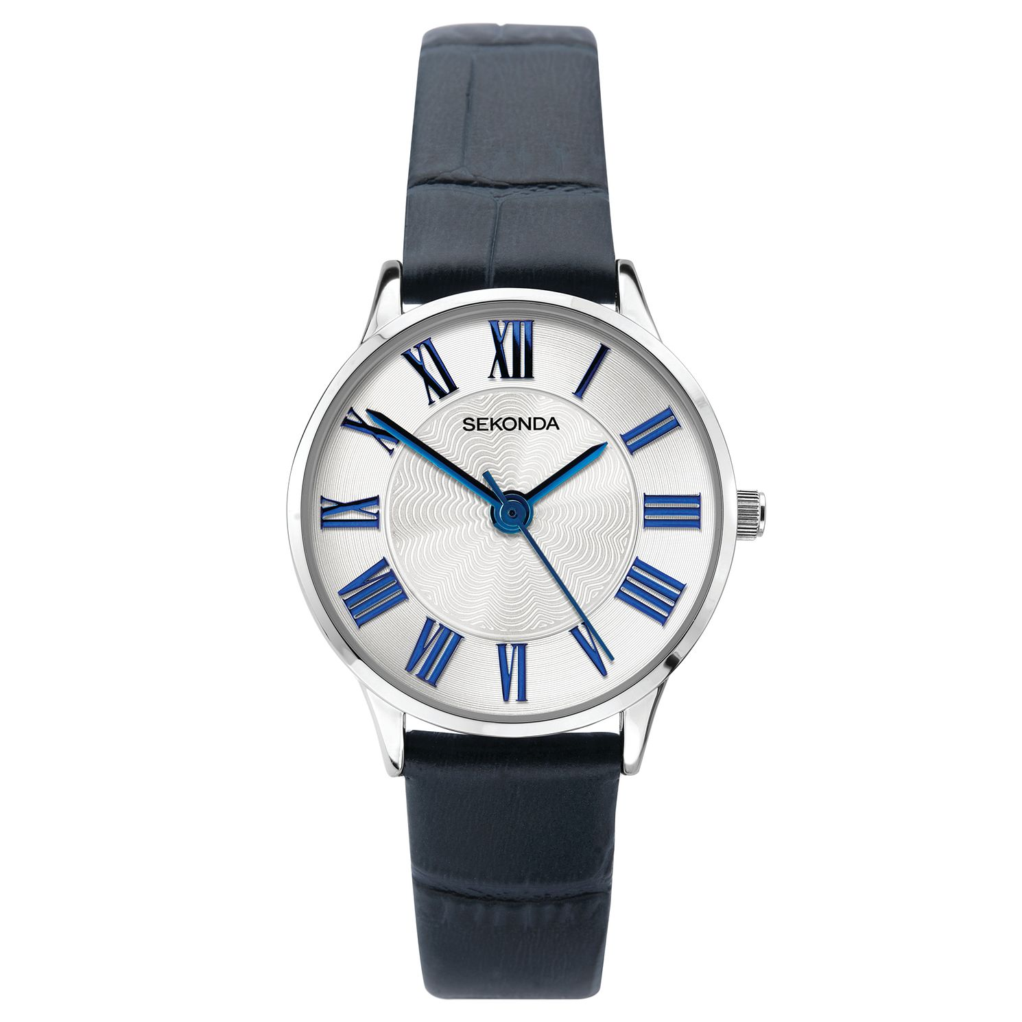 Sekonda Blue Leather Strap Watch - Product number 3777987