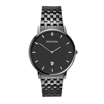 Sekonda Men's Black Stainless Steel Bracelet Watch - Product number 3778193