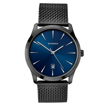 Sekonda Men's Black Stainless Steel Mesh Bracelet Watch - Product number 3778258