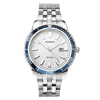Sekonda Date Stainless Steel Bracelet Watch - Product number 3778274