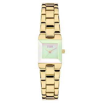 Storm Bia Ladies' Gold-Plated Stainless Steel Bracelet Watch - Product number 3780279