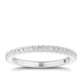 Vera Wang platinum 0.23ct diamond wedding band - Product number 3781801
