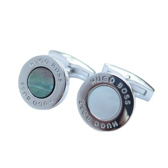Hugo Boss Men's Stainless Steel Coloured Cufflinks - Product number 3785955