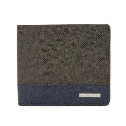 BOSS Signature Men's Green 8Cc Wallet - Product number 3786765