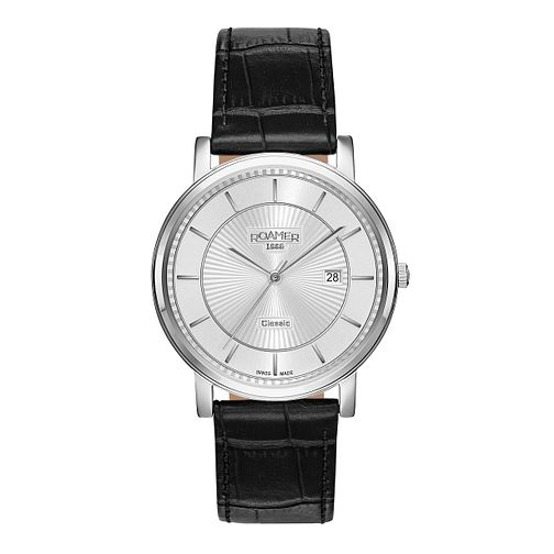 Roamer Classic Line Men's Leather Strap Watch - Product number 3787990