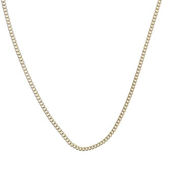 9ct Yellow Gold 20 Inch Curb Chain - Product number 3790983