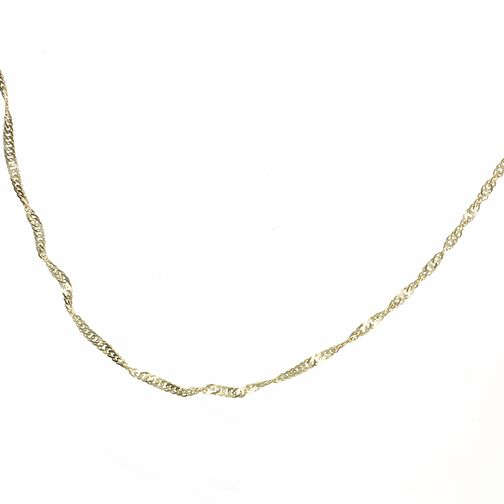 9ct Gold Twisted Curb Chain - Product number 3791181