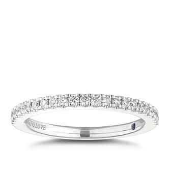 Vera Wang 18ct White Gold 0.23ct Diamond Wedding Ring - Product number 3791424
