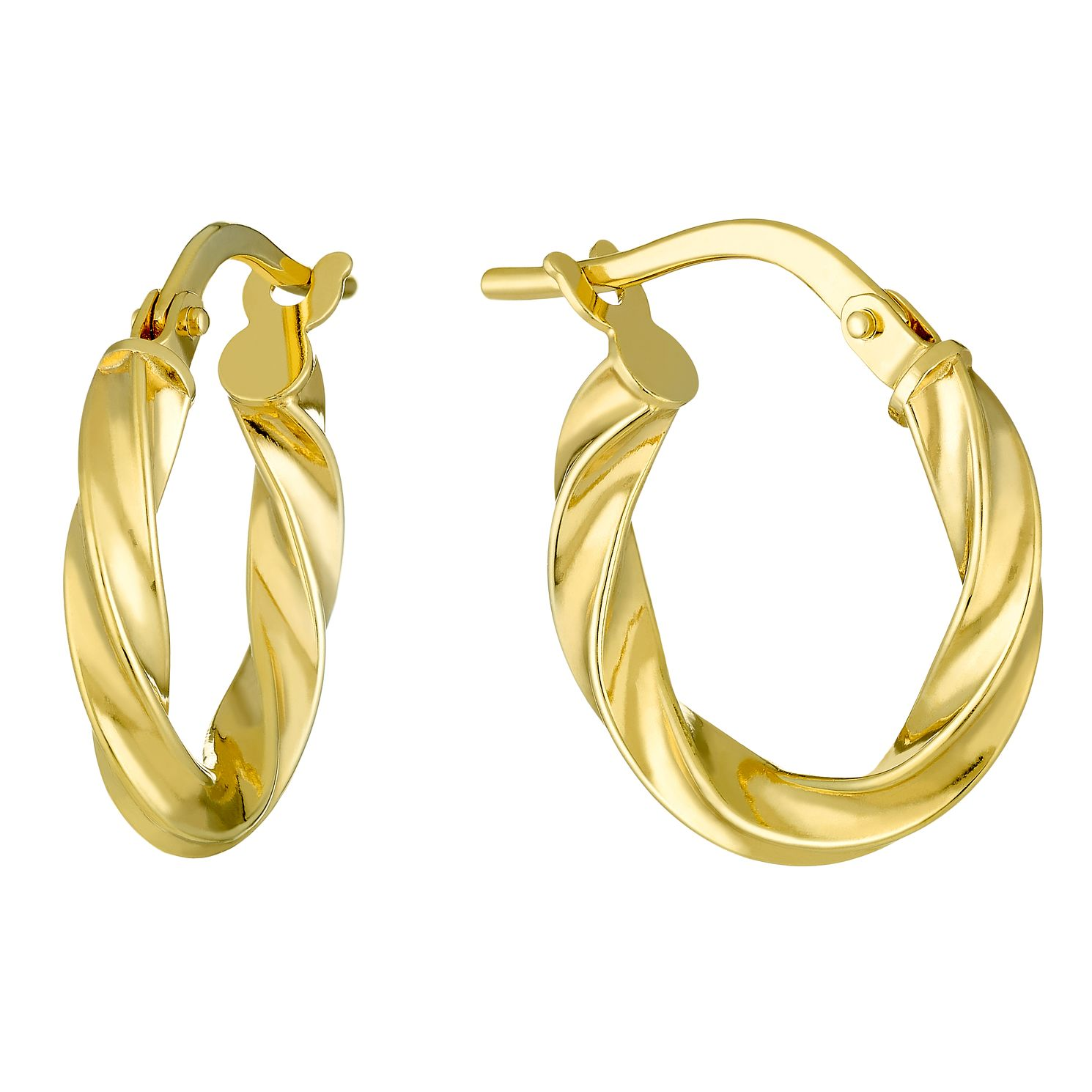9ct Yellow Gold 10mm Hoop Earrings - Product number 3800121