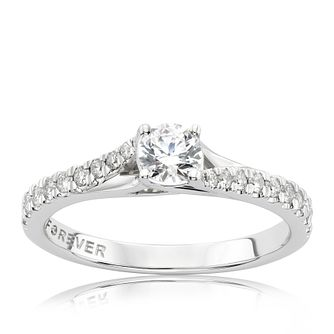The Forever Diamond 9ct White Gold 0.50ct Total Ring - Product number 3800245