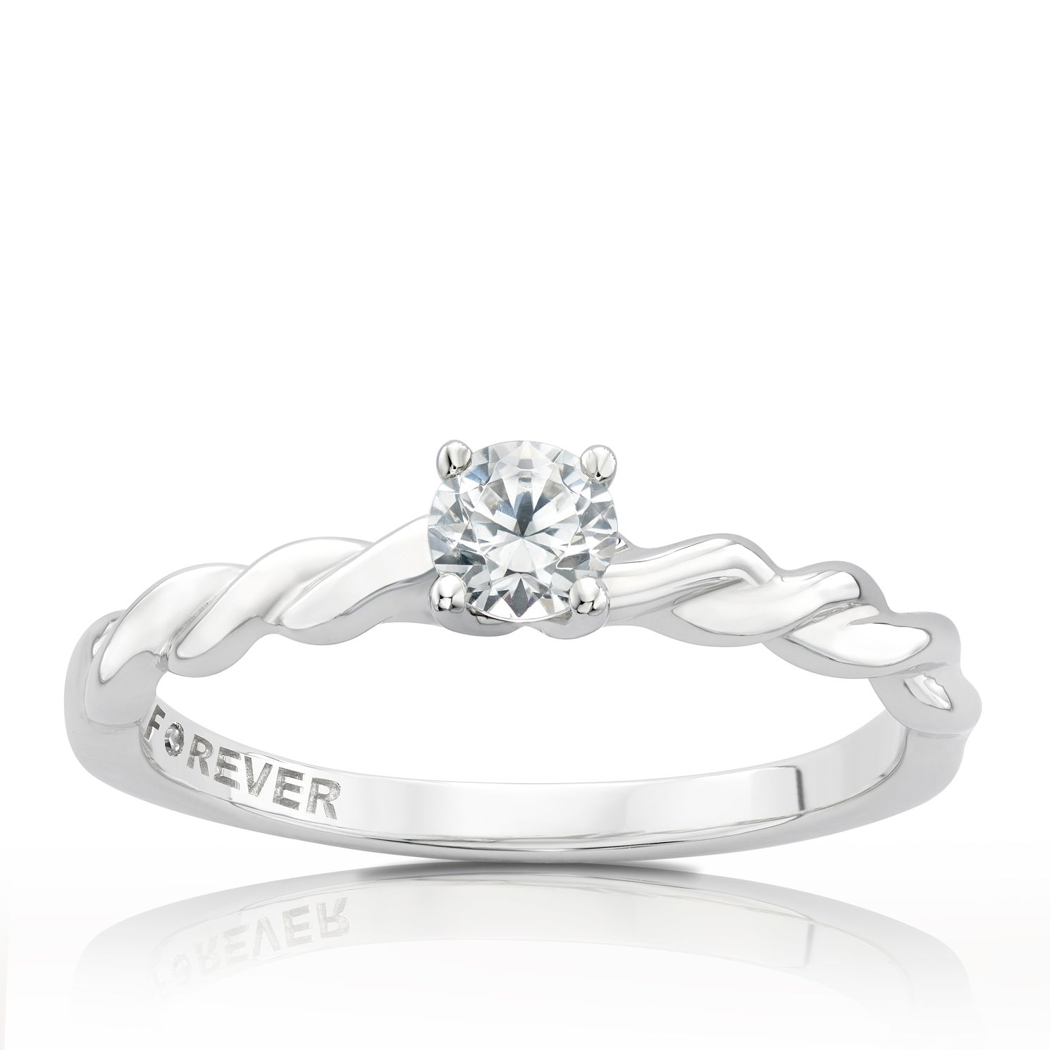 The Forever Diamond Platinum 0.25ct Ring - Product number 3804216